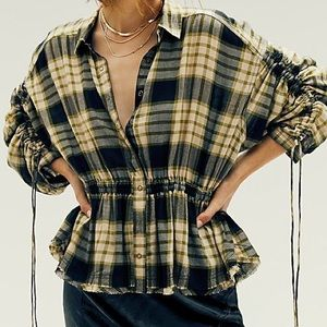 Free People (We The Free) Plaid Shirt
